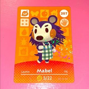 Amimal crossing amiibo Mabel